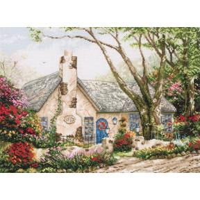 """Набор для вышивания Anchor MAIA 01080  """"Morning Glory Cottage/Утренний Коттедж """""""