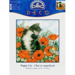 Набор для вышивания крестом DMC BK130 Poppy Cat фото