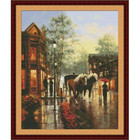 Набор для вышивки крестом Юнона 0206 Весенний дождь фото