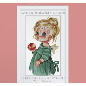 """Набор для вышивки крестом Dantel 057 """"Ангелочек с яблоком"""""""