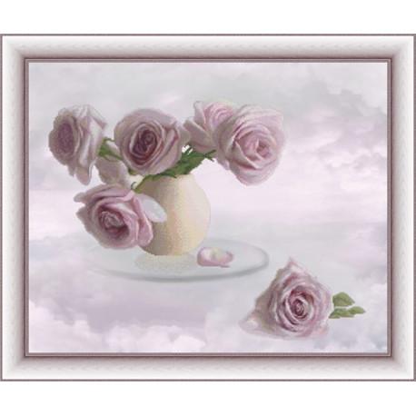 Набор для вышивки крестом Юнона 0303 Розовые облака фото