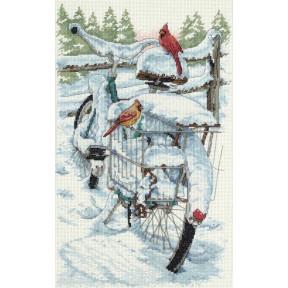 Набор для вышивания крестом Classic Design Зимние кардиналы 4399