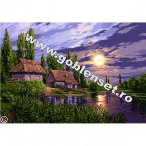 Набор для вышивания гобелен  Goblenset G942 Пейзаж при полной луне