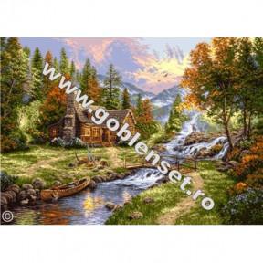 Набор для вышивания гобелен  Goblenset G906 Рай в горах