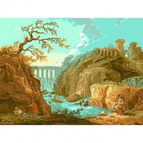 Набор для вышивания гобелен  Goblenset G525 Река Тиволи ( Х. Роберт)