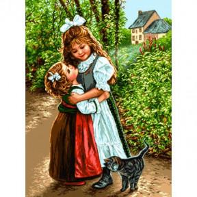 Набор для вышивания гобелен  Goblenset G836 Сёстры