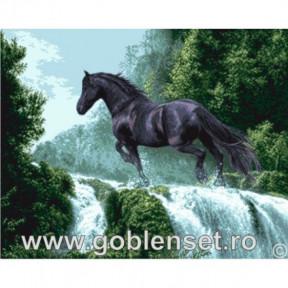 Набор для вышивания гобелен  Goblenset G961 Чёрный красавец