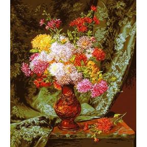 Набор для вышивания гобелен  Goblenset G859 Хризантемы в японской вазе (Chrysanthemums in japanese bowl)
