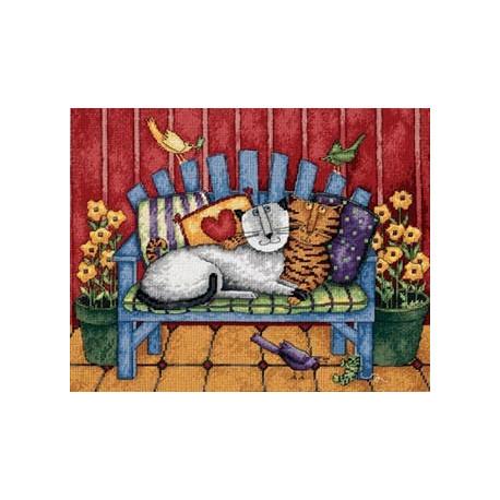 Набор для вышивания Dimensions 20056 Porch Cat фото