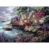 Набор для вышивания Dimensions 12155 Cottage Cove фото