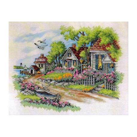 Набор для вышивания Dimensions 03240 Cottage by the Sea фото