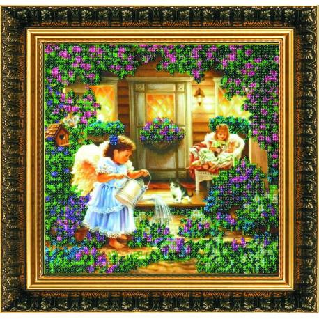 Набор для вышивания бисером Абрис Арт АВ-013 Ангелы фото