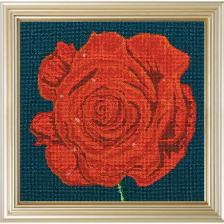Набор для вышивания бисером Абрис Арт АВ-098 Роза фото
