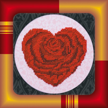 Набор для вышивания бисером Абрис Арт АМ-009 Сердечко фото