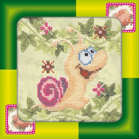 Набор для вышивания бисером Абрис Арт АМ-010 Улитка фото