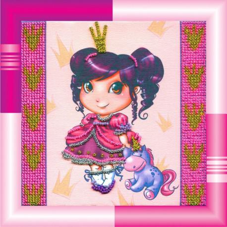 Набор для вышивания бисером Абрис Арт АМ-012 Адель фото