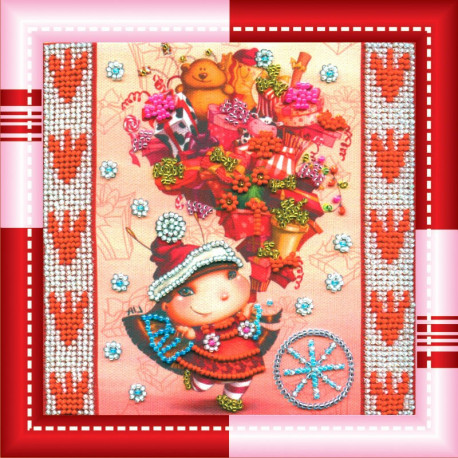 Набор для вышивания бисером Абрис Арт АМ-013 Гостинцы фото