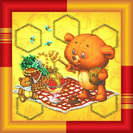 Набор для вышивания бисером Абрис Арт АМ-015 Лакомка фото