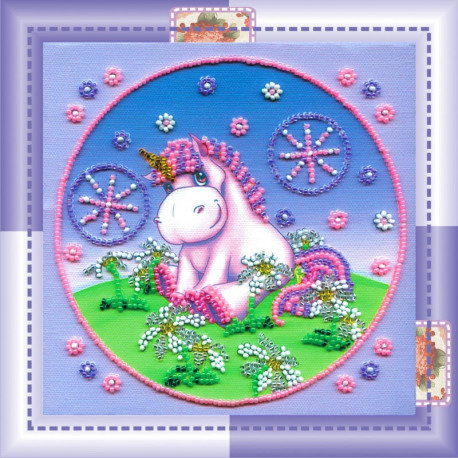 Набор для вышивания бисером Абрис Арт АМ-016 Пони фото