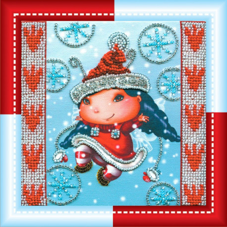 Набор для вышивания Абрис Арт АМ-017 Рождественский эльф фото