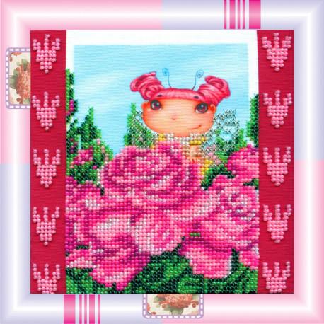Набор для вышивания бисером Абрис Арт АМ-018 Розовая фея фото