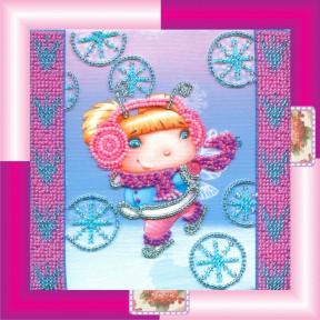Набор для вышивания бисером Абрис Арт АМ-020 Снежный ангел
