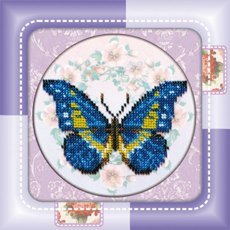 Набор для вышивания бисером Абрис Арт АМ-001 Бабочка фото