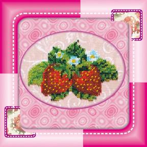 Набор для вышивания бисером Абрис Арт АМ-003 Земляника