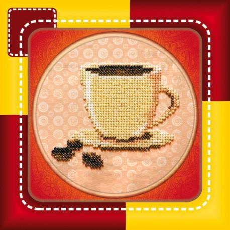 Набор для вышивания бисером Абрис Арт АМ-004 Кофе фото