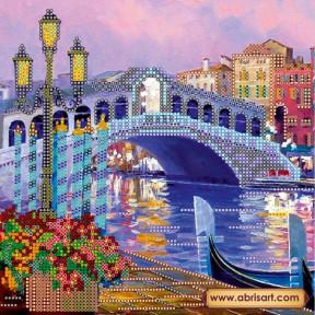 Схема для вышивания бисером Абрис Арт АС-490 Огни Венеции