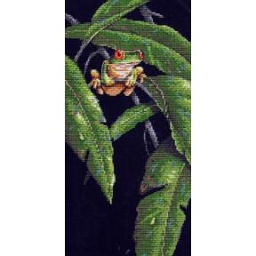 Набор для вышивания  Dimensions 35251 Tree Frog Among Leaves