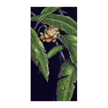 Набор для вышивания Dimensions 35251 Tree Frog Among Leaves фото