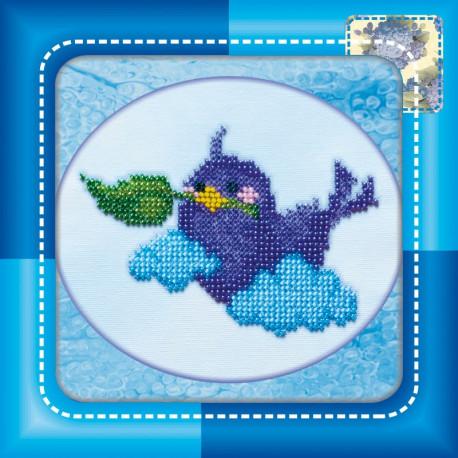Набор для вышивания бисером Абрис Арт АМ-006 Птичка фото