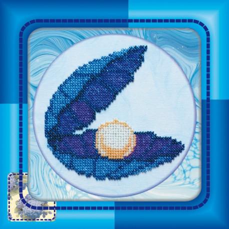 Набор для вышивания бисером Абрис Арт АМ-007 Ракушка фото