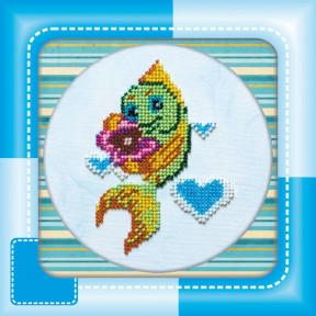 Набор для вышивания бисером Абрис Арт АМ-008 Рыбка