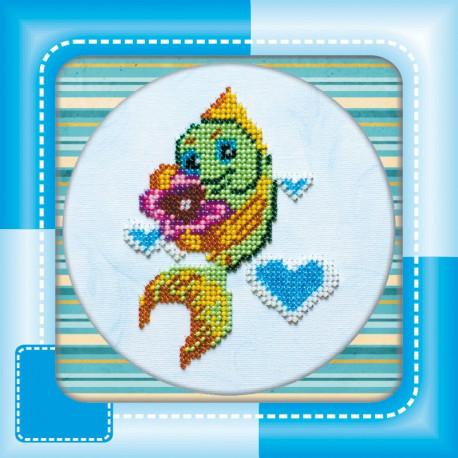 Набор для вышивания бисером Абрис Арт АМ-008 Рыбка фото