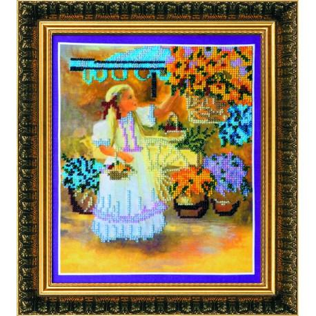 Набор для вышивания Абрис Арт АВ-037 Маленькая цветочница фото