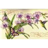 Набор для вышивания Dimensions 35237 Orchids & Hummingbird фото