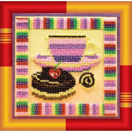 Набор для вышивания бисером Абрис Арт АВ-129 Шоколадница фото
