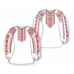 Сорочка женская под вышивку белая с длинным рукавом ТПК-162-38-11-08-44 Размер 44