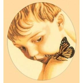 Набор для вышивки RTO M177 Мальчик и бабочка
