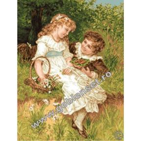 Набор для вышивания гобелен Goblenset  G997 Сладкое детство