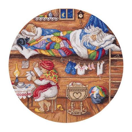 Набор для вышивки крестом Panna СО-1838 Домовой - в семье