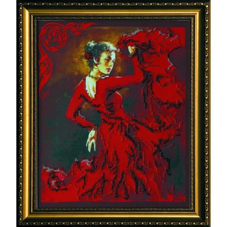 Набор для вышивания бисером Абрис Арт АВ-021 Кармен фото