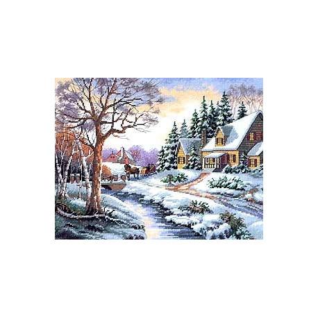 Набор для вышивания Dimensions 13691 Winter Outing фото