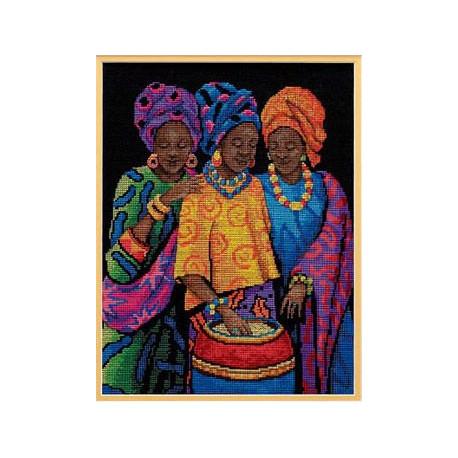 Набор для вышивания Dimensions 35254 Yoruban Beauties фото