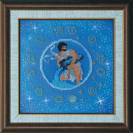 Набор для вышивания бисером Абрис Арт АВ-007-09 Водолей фото