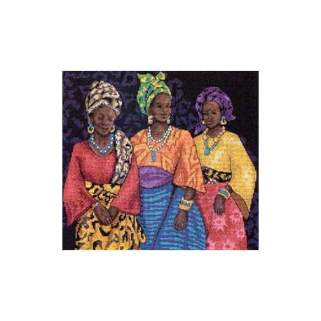 Набор для вышивания Dimensions 35092 Three Yoruban Women фото