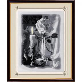 Набор для рисования камнями Dream Art.  30087D Свеча и роза