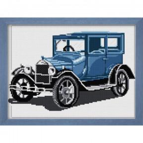 Набор для рисования камнями Dream Art.  30025 Ретро автомобиль(синий)
